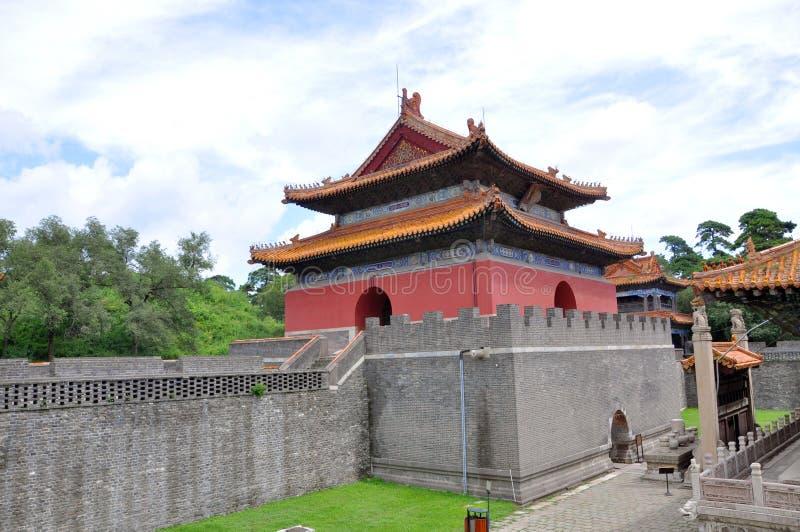 Fuling Tomb av Qing dynasti, Shenyang, Kina arkivbild