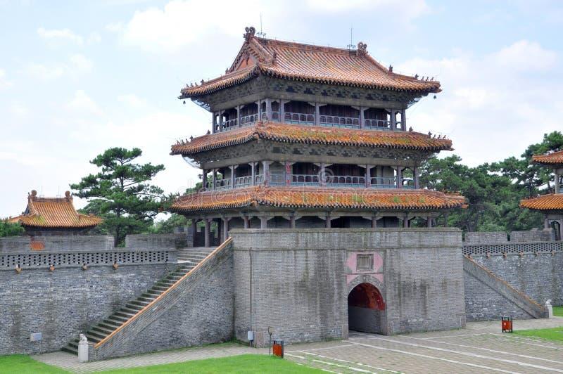 Fuling Tomb av Qing dynasti, Shenyang, Kina royaltyfri fotografi