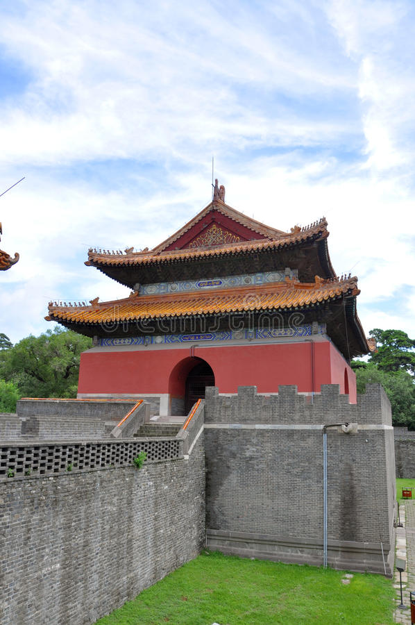 Fuling Tomb of Qing Dynasty, Shenyang, China. Daming Tower of Fuling Tomb of Qing Dynasty, Shenyang, China. Fuling Tomb (East Tomb) is the mausoleum of Nurhaci royalty free stock image