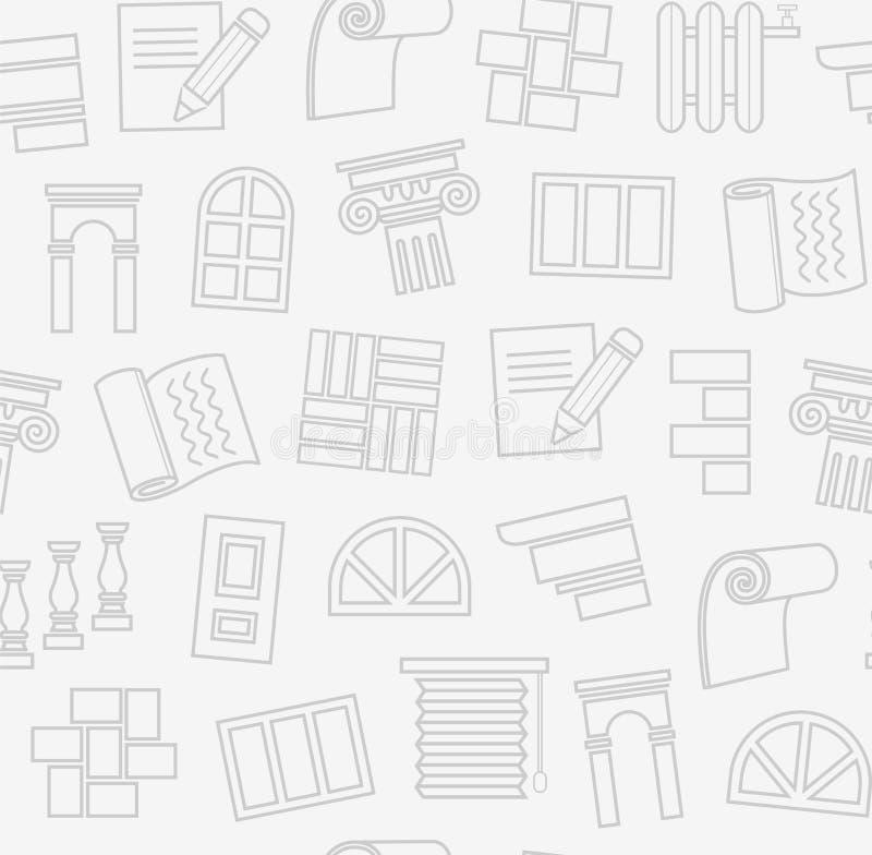 Fulländande material, konstruktion, sömlös modell, översiktsteckning, ljus - grå färg, färg, vektor stock illustrationer