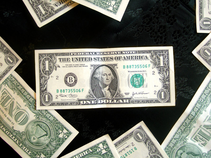 Download Full Of American Money Dollar On Black Stock Image - Image: 978155
