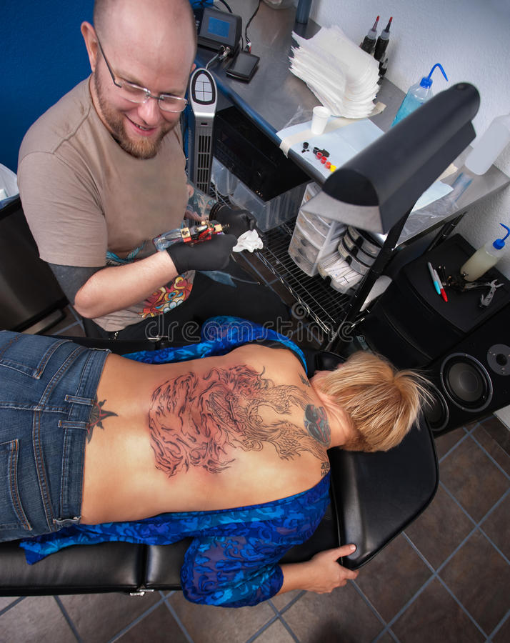 Download Full Back Tattoo stock image. Image of caucasian, safety - 22975825