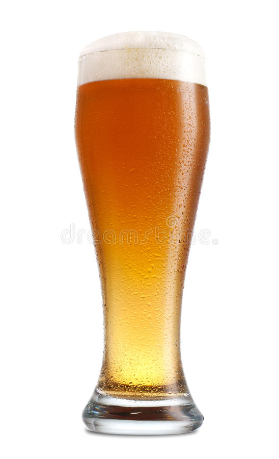 Full Beer Glass stock images