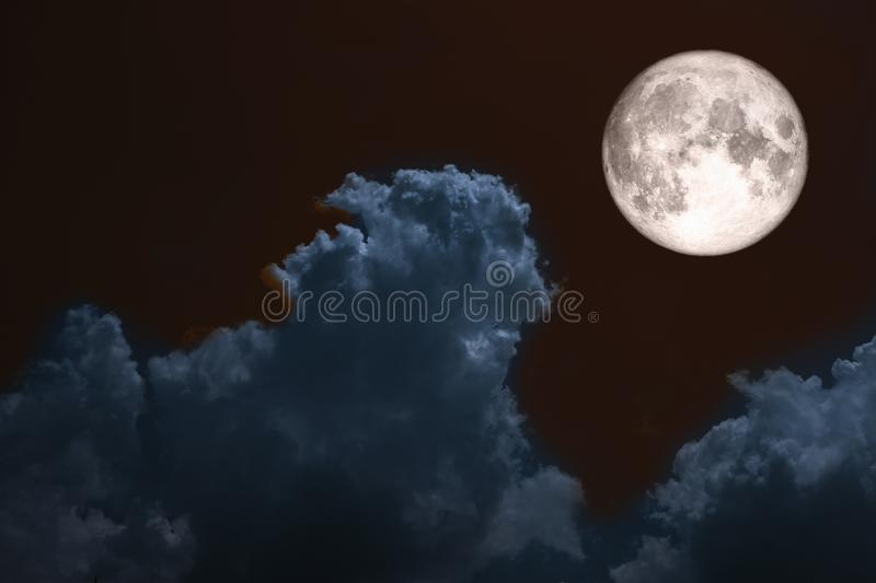 full blood moon back over silhouette cloud night blue sky royalty free stock photos