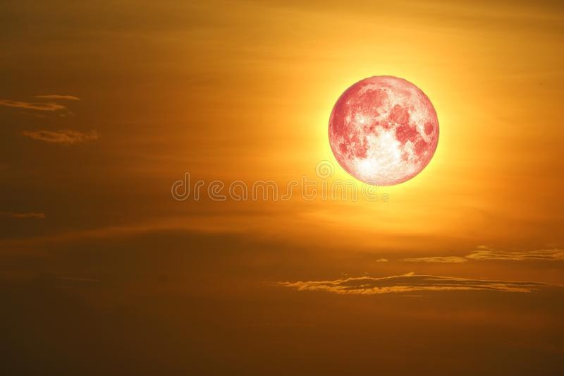 full blood moon on sea and ocean light sky silhouette cloud stock photos