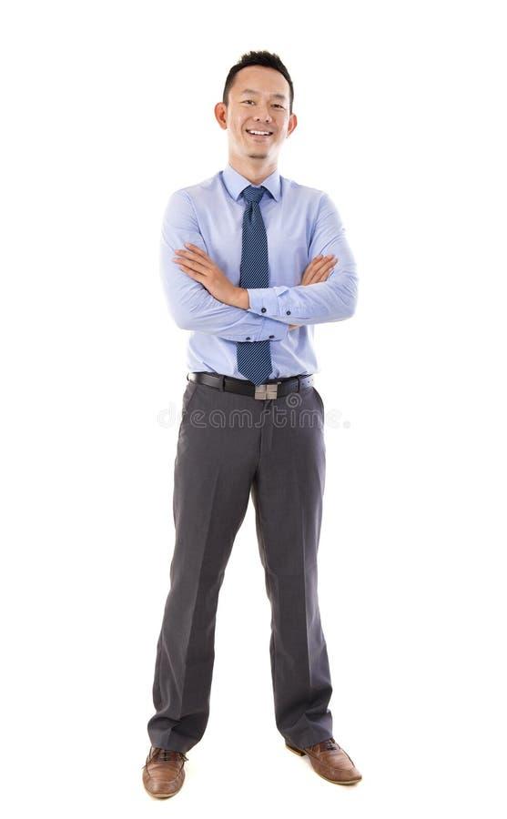 Full body Asian man royalty free stock image