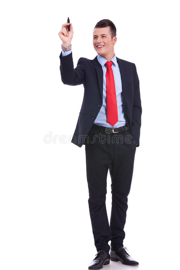 Download Full Body Picture Of A Business Man Writing Stock Photo - Image: 25949528