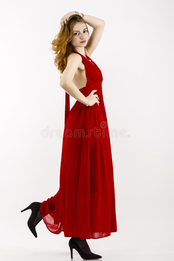 Full body portrait with a beautiful woman stock photos
