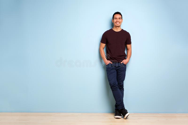 Fashionable mature asian man royalty free stock image