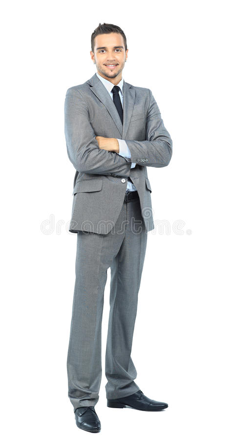 Download Full Body Portrait Of Happy Smiling Business Stock Photo - Image: 25899764