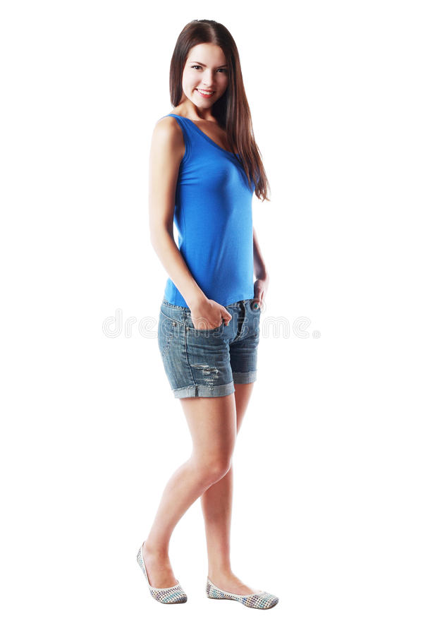 Full body portrait woman royalty free stock images