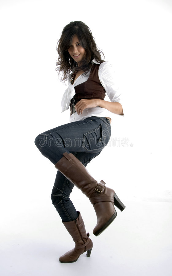 Download Full Body Pose Of Pretty Female Stock Image - Image: 6970487