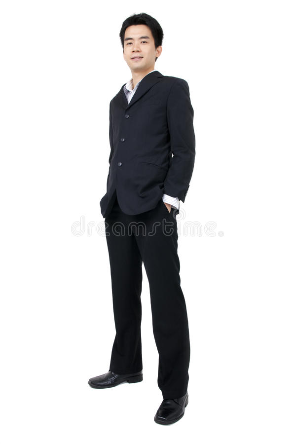 Download Full Body Of A Smiling Young Asian Executive Stock Image - Image: 14019577