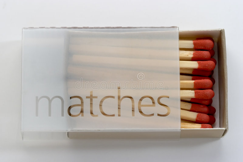 Full Box of Matches royalty free stock photo