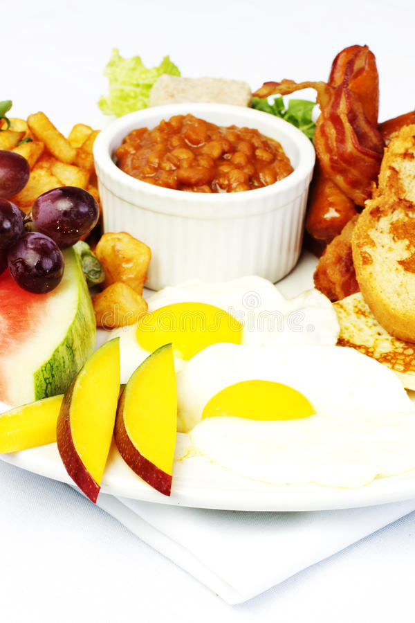 Download Full Breakfast With Eggs Bacon Beans Stock Photo - Image: 21083568