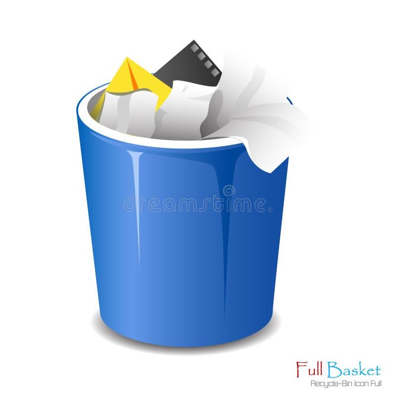 Full Bucket Icon Isolated. royalty free illustration