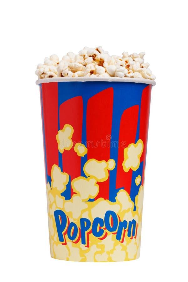 Free Full Bucket Of Popcorn. Isolated On White. Stock Photos - 75981493