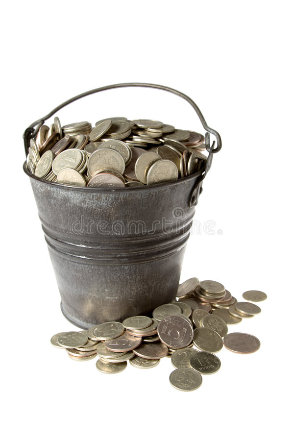 Download Full Bucket Of Silver Coins Stock Image - Image: 1700605