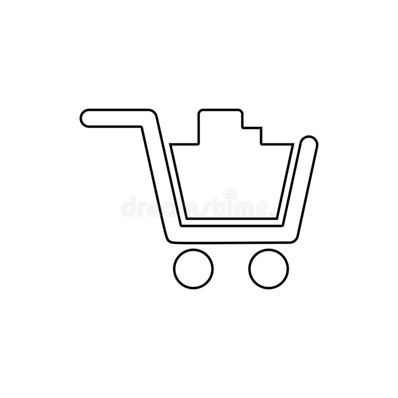 full cart in the store icon. Element of web for mobile concept and web apps icon. Thin line icon for website design and stock illustration