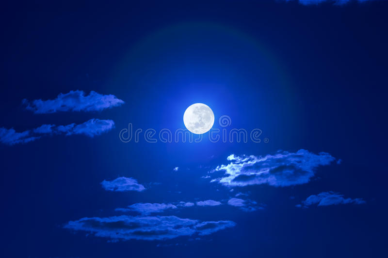 Download Full Clouds Moon Sky stock image. Image of blue, clear - 10065551