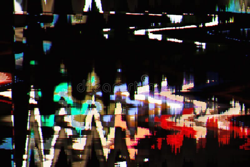 Full color abstract texture glitch background stock images