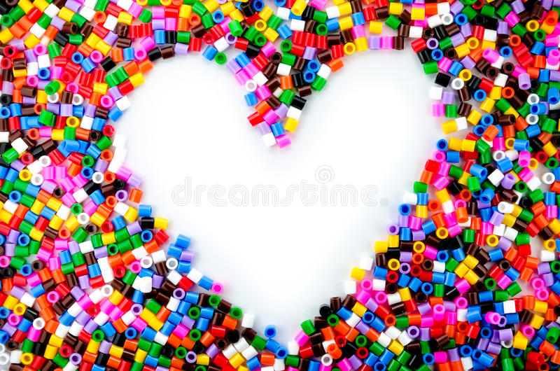 Full Color Beads. On White Background, Close Up stock photography