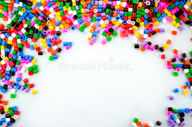 Full Color Beads. On White Background, Close Up royalty free stock photography