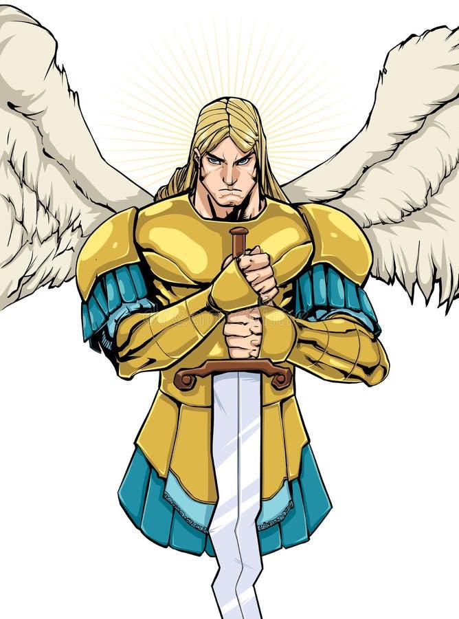 Archangel Michael Portrait royalty free illustration