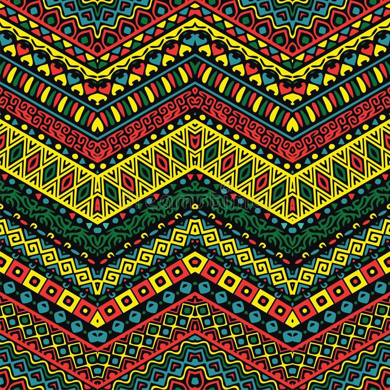 Full color pattern with ethnic ornaments vector illustration
