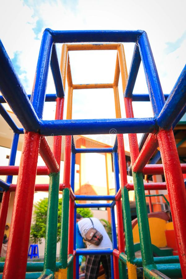Full color playground. Child kids royalty free stock photo
