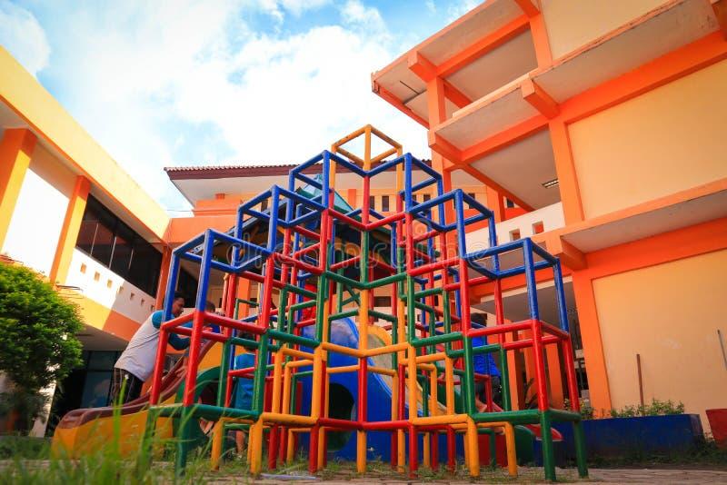 Full color playground. Child kids stock photo