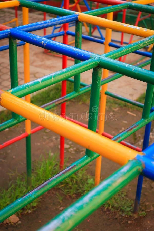 Full color playground. Child kids stock images