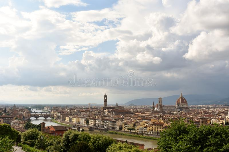 Florence City @ Italy. The ecstatic view of the Florence, capital of Italy's Tuscany region. One of its most iconic sights is the Duomo, a stock image