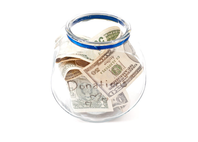 Download Full Donation Jar stock image. Image of contribution - 15760901