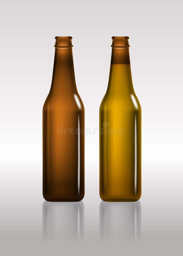 Full and empty bottles