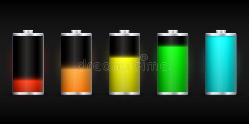 Full energy battery charge. Accumulator Load design vector illustration