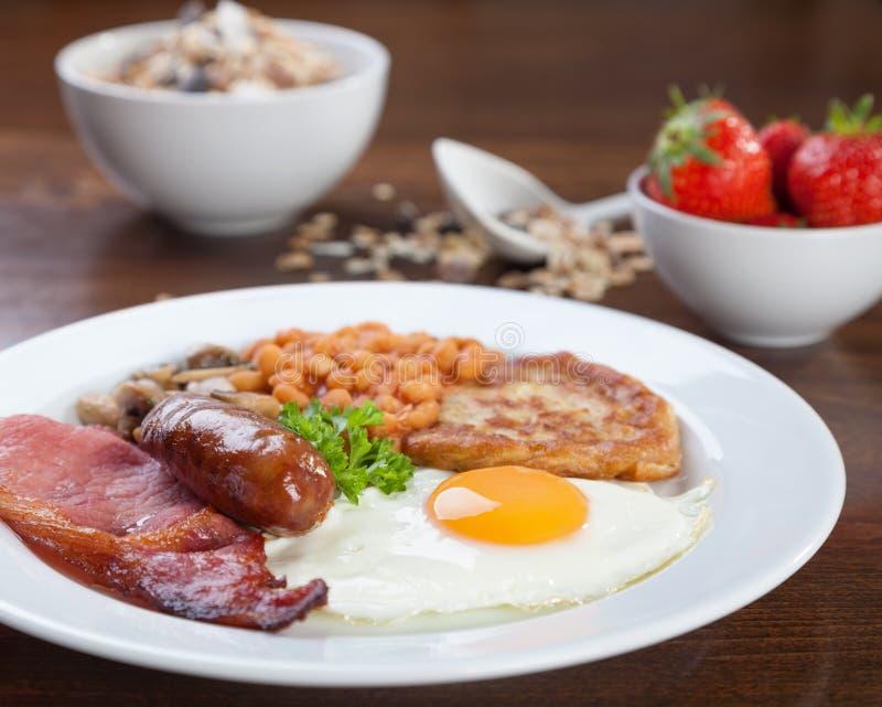 Full engelsk frukost arkivbild