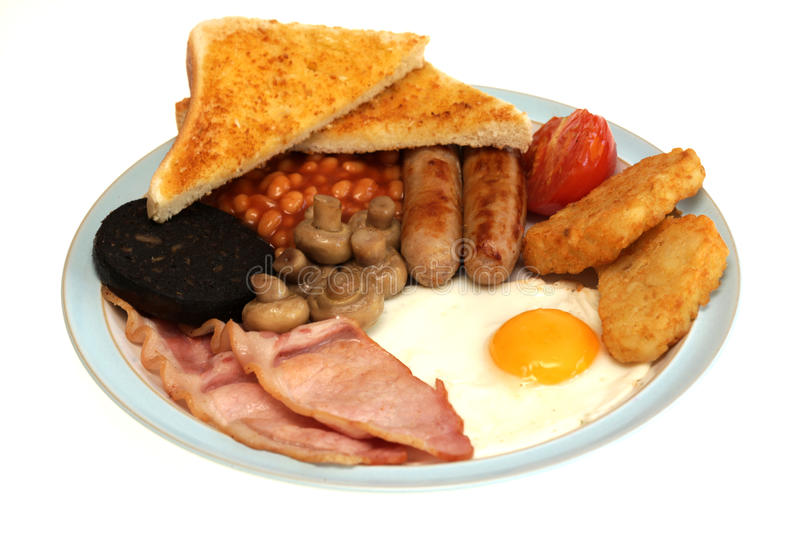 Full Fried Traditional English Breakfast royalty free stock photo