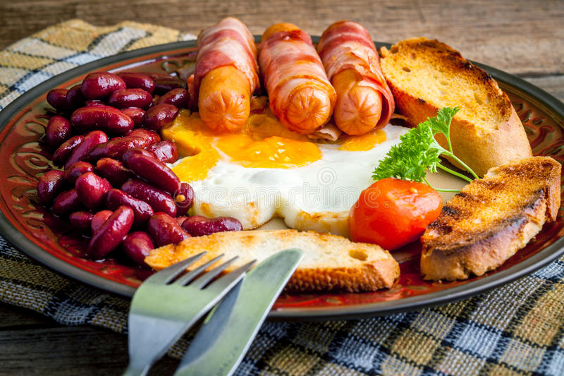 Download Full english breakfast. stock image. Image of tomato - 69397111