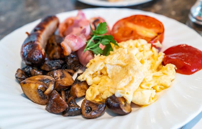 Full English Breakfast stock photo