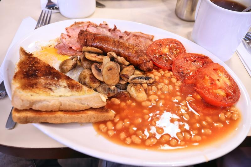 Full English breakfast stock images