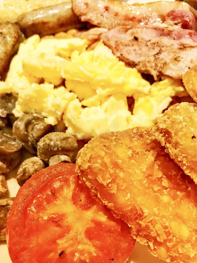 Full English cooked breakfast stock photos