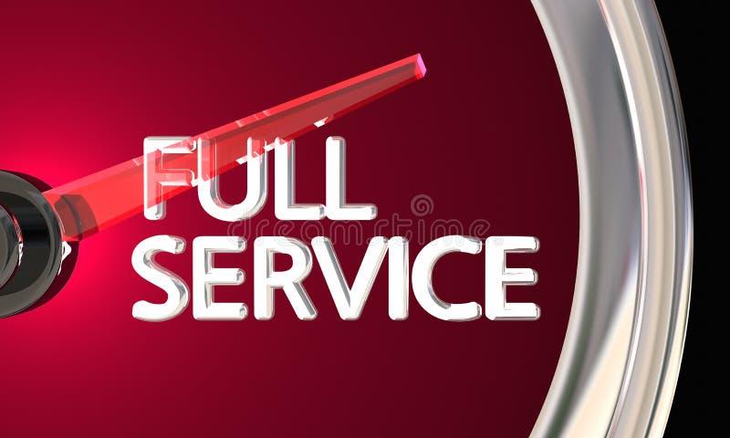 Full för affärskund för tjänste- företag slutsumma 3d Illustra för service royaltyfri illustrationer