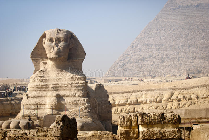 Full-face du sphinx images libres de droits