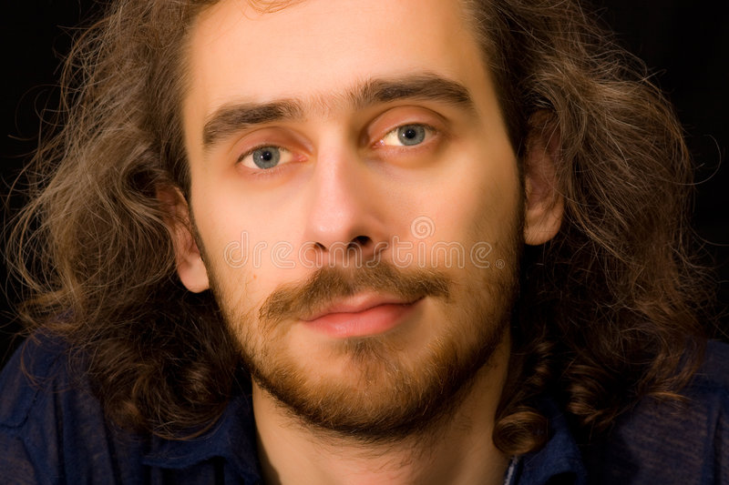 Full face portrait of young adult man royalty free stock image