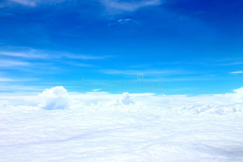 Full of flat cloud on blue sky stock photos