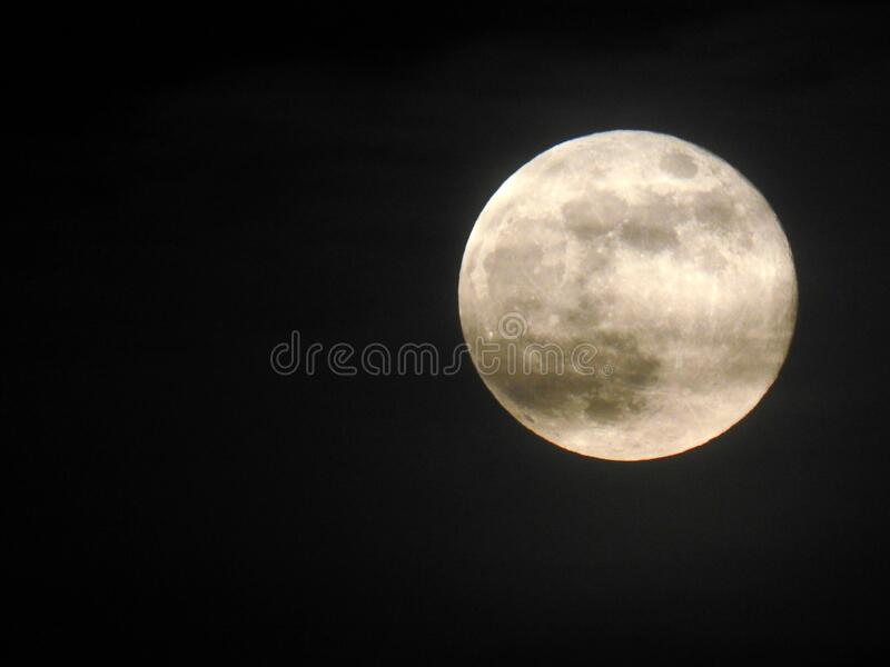 The full Flower super moon May 7 2020 stock photos