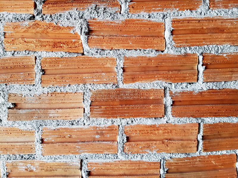 Full Frame Background of Bare Brick Wall. Full Frame Background of Bare Cement Brick Wall royalty free stock photography