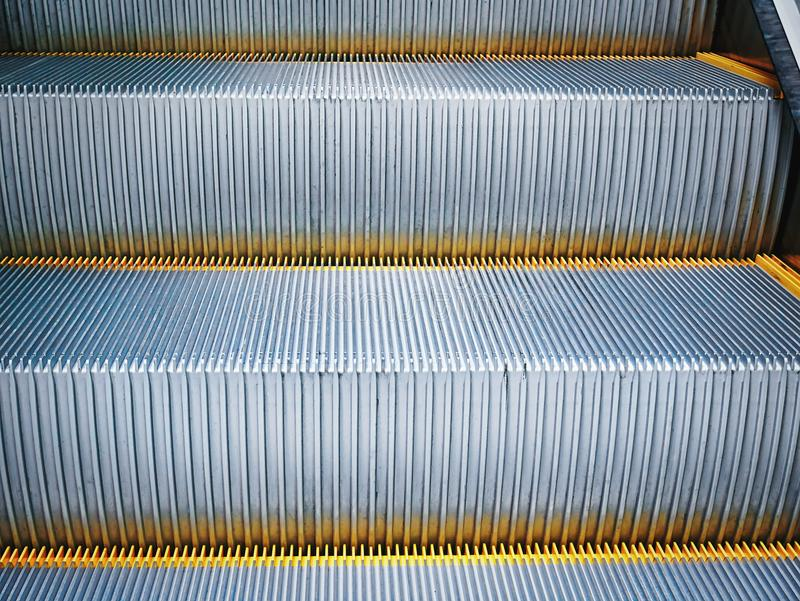 Full Frame Background of Close-up Escalator Stairs stock images