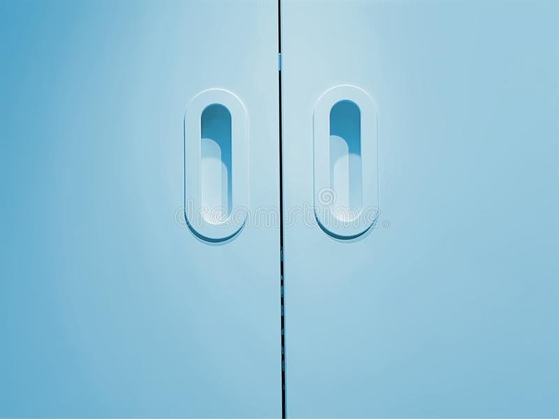 Background of Closed Cyan Wooden Door. Full Frame Background of Closed Cyan Wooden Door royalty free stock photography